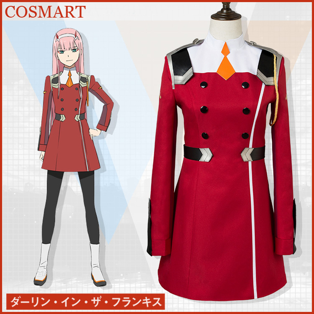 [STOCK]+Stockings Anime Darling in the Franxx CODE 002 ZERO TWO Uniform Halloween Cosplay costumes for women free ship