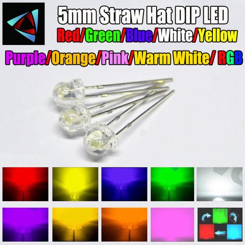 1000pcs 1.8mm Water Clear Purple//uv Light LED Diodes Round Top High Quality