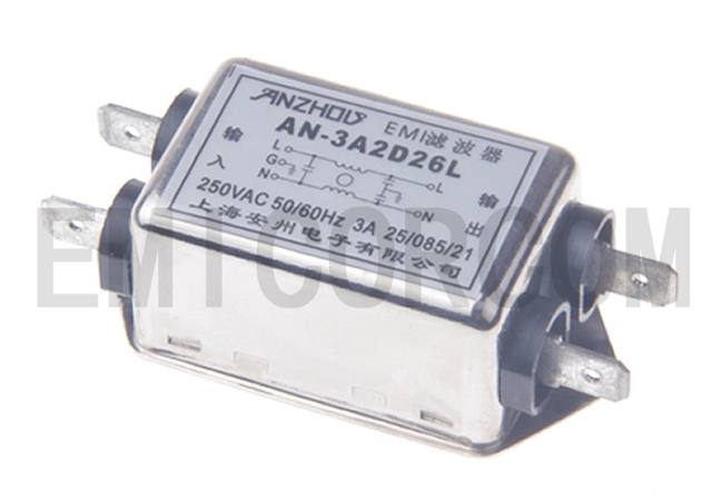 AN-10A2D26L 10A 250V EMI power filters, plug-chip filters Connector