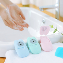 50pcs/lot Portable Washing Hand Wipes Bath Travel Scented Slice Sheets Foaming Box Paper Soap Wholesale Drop Shipping Colorful