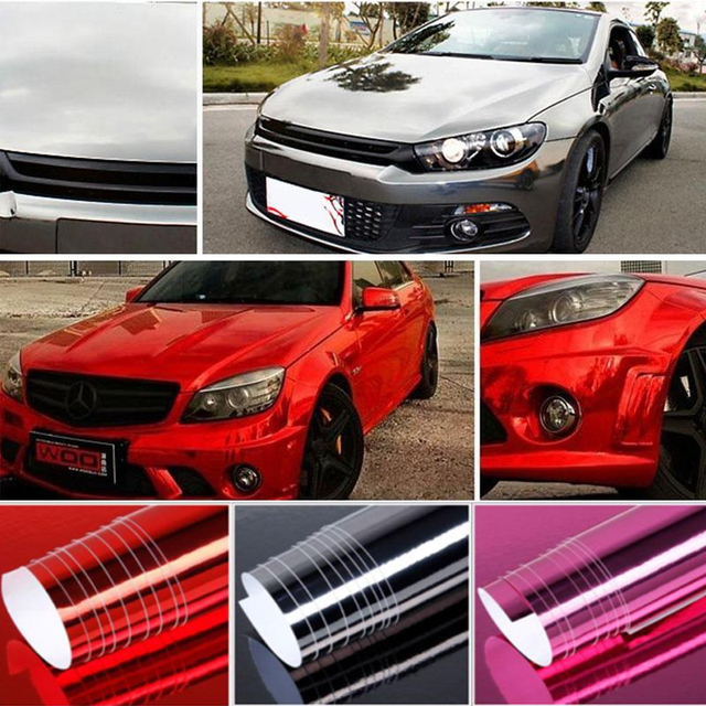 """Vehemo Car Wrap Decal Sticker 3 Colors 4""""X60""""Car Styling Body Film Motorcycle Decal"""