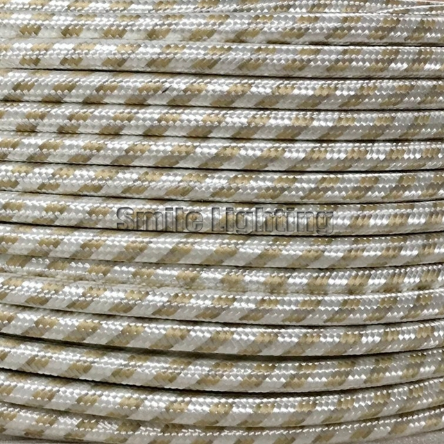2M,3M,5M,10M/lot New Color VDE certified 2 core Round Textile Electrical Wire Color Braided Wire Fabric Cable