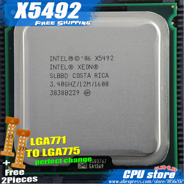 Intel Xeon X5492 3 4ghz 12m 1600 Processor Close To Lga771 Core 2 Quad Q9650 Q9550 Cpu Works On Lga 775 Mainboard 2 Pieces Free Buy Cheap In An Online Store With Delivery Price