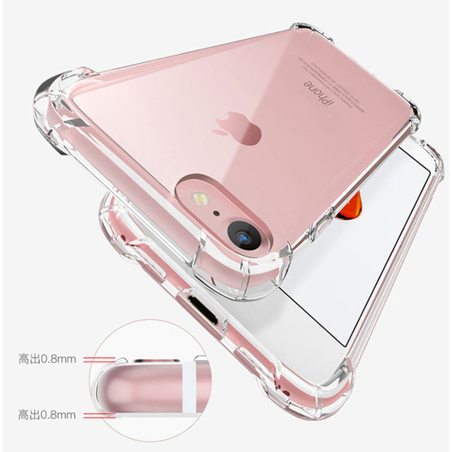 For iPhone 6 6s Case 11 Pro Max Xs X XR Silicone Back Cover Cases For iPhone 6 6S Plus 7 Plus 5 5S SE Anti-knock Phone Case