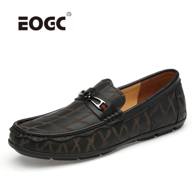 Genuine Leather Shoes Men Breathable Men Loafers Moccasins Plus Size Men Flats Top Quality Driving Casual Shoes