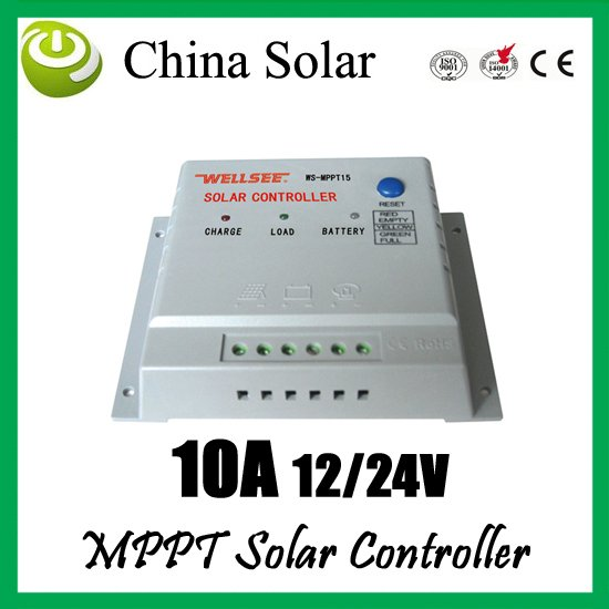 10A 12/24V MPPT solar controller, wellsee controller,10 amps solar charge controller