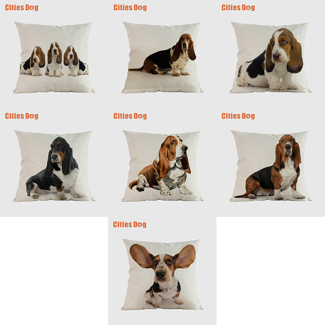 Basset dog pillow covers decorative cushion covers for sofa Pillows Animal Basset Hound dogs pillowcase cushions cover home deco