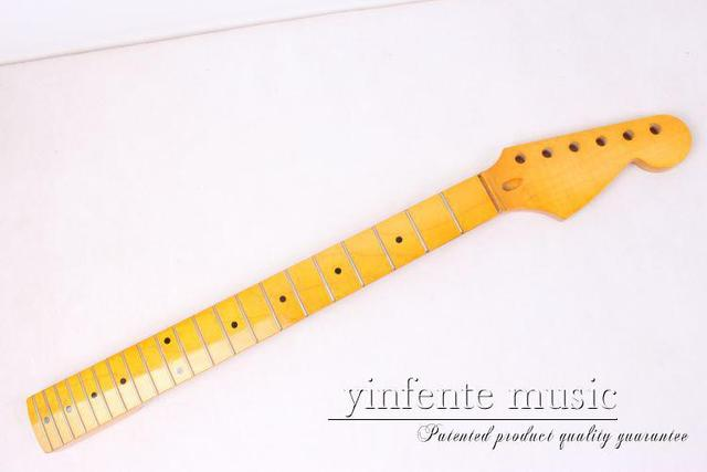 38# New Unfinished Electric guitar neck  maple  Fingerboard 22 fret 25.5""
