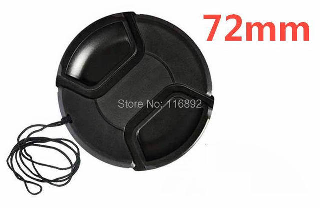 72mm center pinch Snap-on cap cover for 72mm  camera Lens