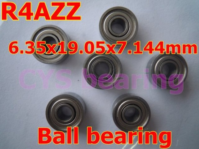 R4AZZ  shielded bearing inch shaft 6.35 x19.05 x 7.144mm miniature shielded ball bearing