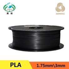 Черный 3D Принтер Нити PLA 1,75 мм для Makerbot Reprap Mendel UP Machine 1кг (2.2lb)