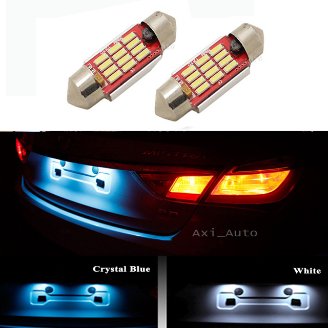 2x C5W 36mm Festoon LED CANBUS Car Interior Reading License plate light No Error For BMW Audi VW Porsche Mercedes