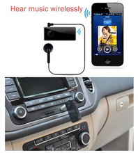 AD2P & AVRCP Two-Link Car AUX Bluetooth Wireless Music Receiver With Stereo Output Handsfree Home Audio Adapter Free Shipping