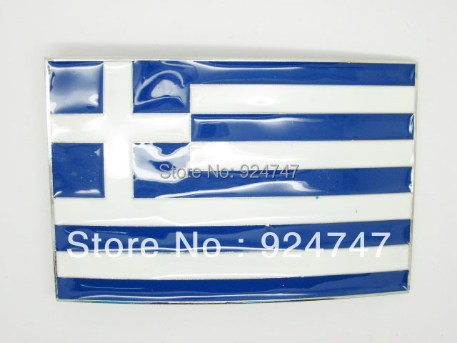 Greece Flag Belt Buckle