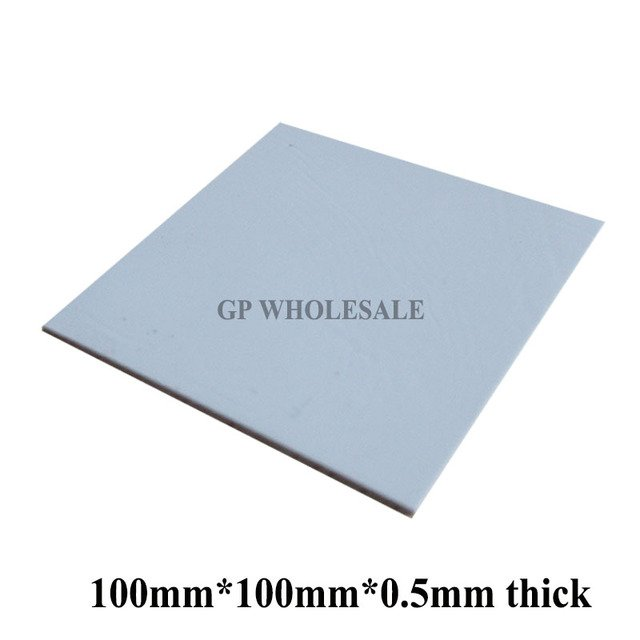 100mm*100mm*0.5mm Soft Silicone Thermal Pad /Thermal Pads Heat Conduct for Heatsink Laptop /IC /Chipset /Chip / VGA GPU Gap