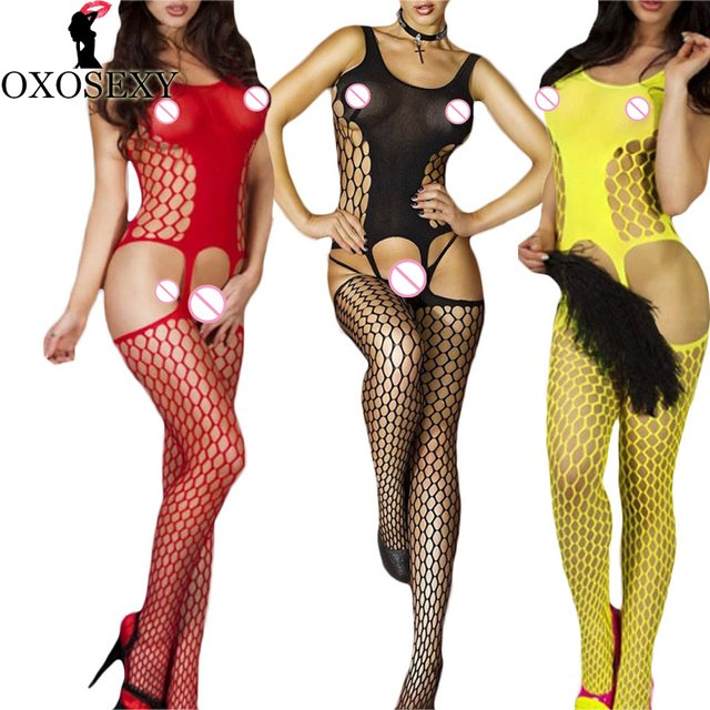 Hollow women sexy lingerie hot mesh Fishnet Open Crotch bodyStockings pole dance underwear erotic Lingerie sexy costumes 313
