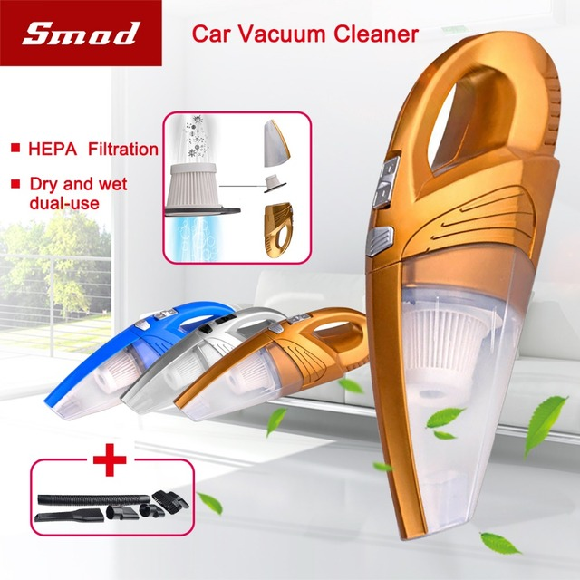 Car Vacuum Cleaner, DC 12V 120W 4kPA High Power Portable Wet/Dry Dual Use Auto Car Vacuum Cleaner with 5m Power Cord