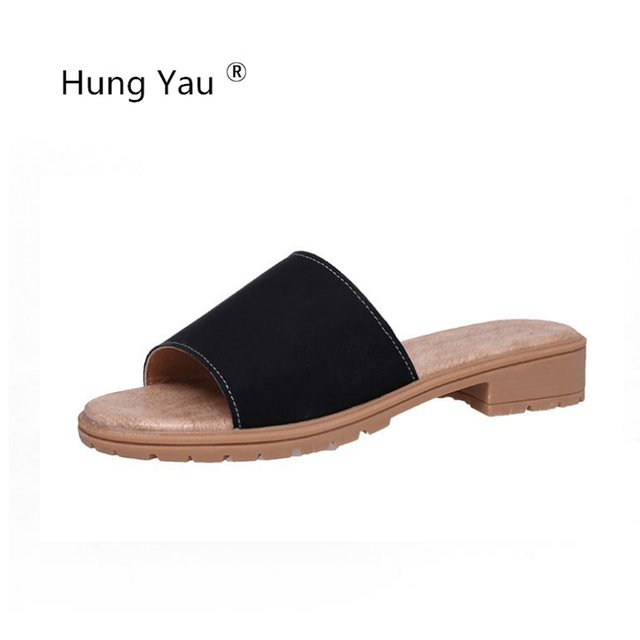 Hung Yau Shoes For Women's Slippers Sweet Flats Casual Shoes Beach Sandals Woman Comfortable Slides Summer Shoes Flip Flops