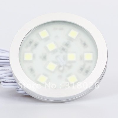 Round Small Simple SMD5050  LED Cabinet Light 9leds 12VDC Home Display Cabinet Show Case Furniture Decorative 1pcs/lot