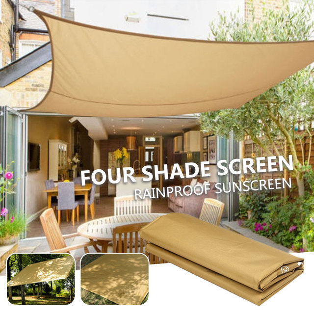 Square Shade Screen Awning Shade Canopy Gazebo Practical Durable Tent Cloth Travel