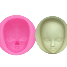 M929 DIY Girl Face Silicone Mold Fondant Molds Cake Decorating Tools woman mask Gumpaste Mould Polymer Clay Resin Molds