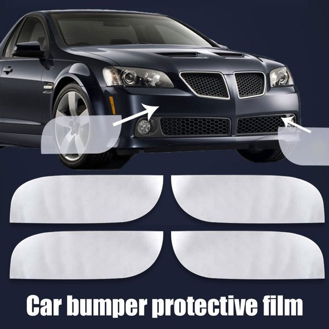 Vehemo 4pcs Cars Car Sticker Protector Films Collision Avoidance Durable Car Styling Scratch Guard Car Decals Stealth Sticker