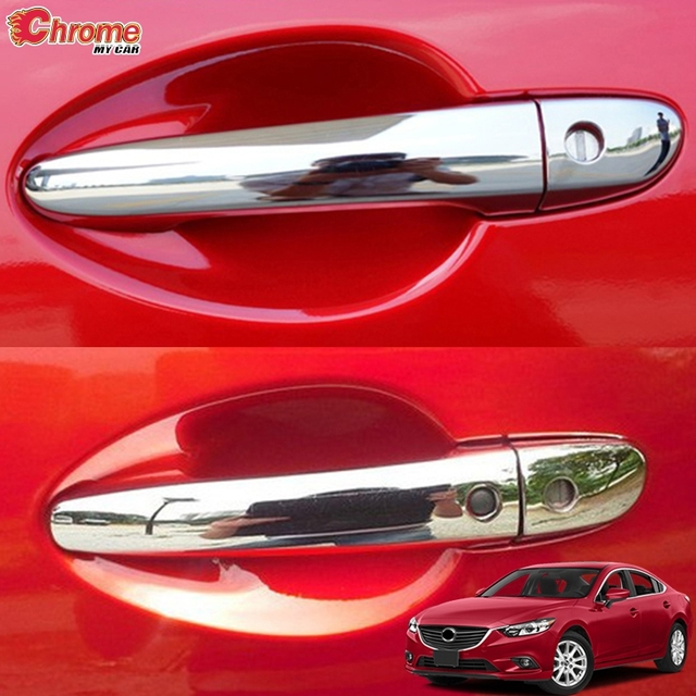 For Mazda 6 Atenza GJ 2013 2014 2015 2016 2017 Chrome Door Handle Catch Cover Trim Molding Decoration Accessories Car Styling