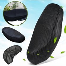 Motorcycle Seat Cover Black Elctric Bike Net Breathable Protector Cushion Sun