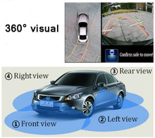 Universal 360 visual parking system All round view car camera control box Front Left Right Rear cameras