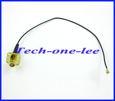 20cm RP-SMA female 4 hole panel mount to ufl/Ipx goldplated connector Pigtail Cable 1.13 free shipping
