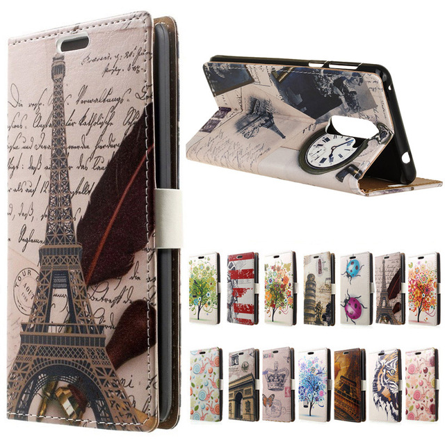 Eiffel Tower cartoon Flip Leather Wallet book Cover case for Flip (Xiaomi Redmi Note 4 ) 5.5 inch mobilew phone cases coque