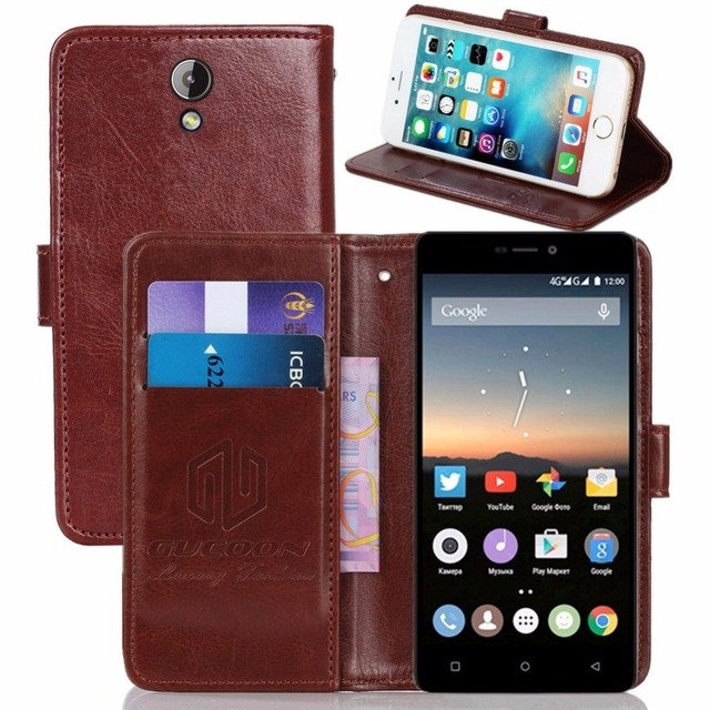 GUCOON Vintage Wallet Case for Highscreen Power Five Pro PU Leather Retro Flip Cover Magnetic Fashion Cases Kickstand Strap