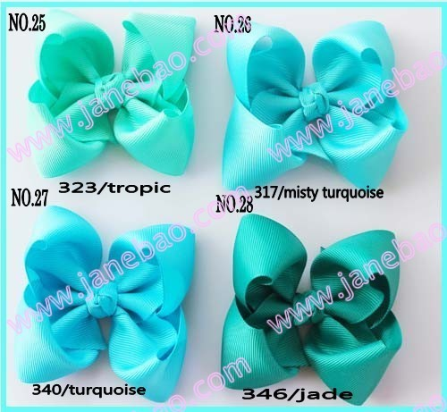 free shipping mix color 100ps 3.5'' Boutique hair bows hair bows hair accessories