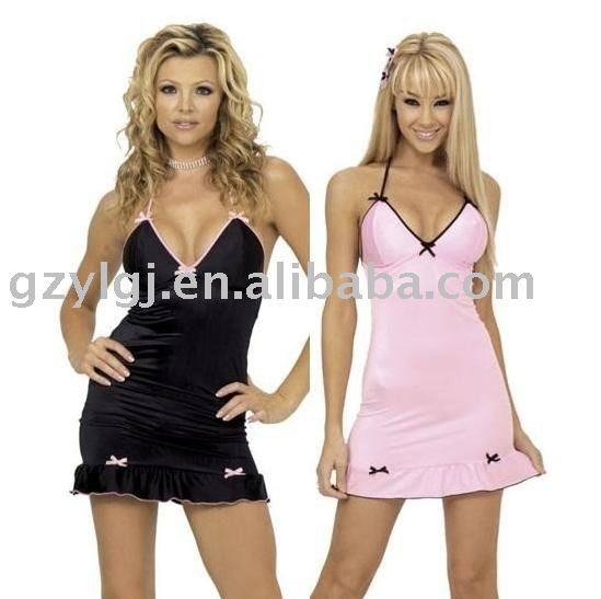 Wholesale Free shipping Sexy Lingerie Club Wear Bs-8957 Black ,Pink  baby doll One Size