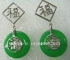 6PCS chinese green  Jewelry earrings GG888HH69F