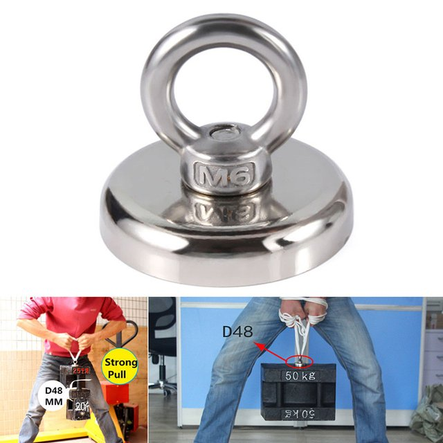 2020 New Recovery Magnet Hook Strong Sea Fishing Diving Treasure Hunting Metal Detector Searching Rails Handling Tools
