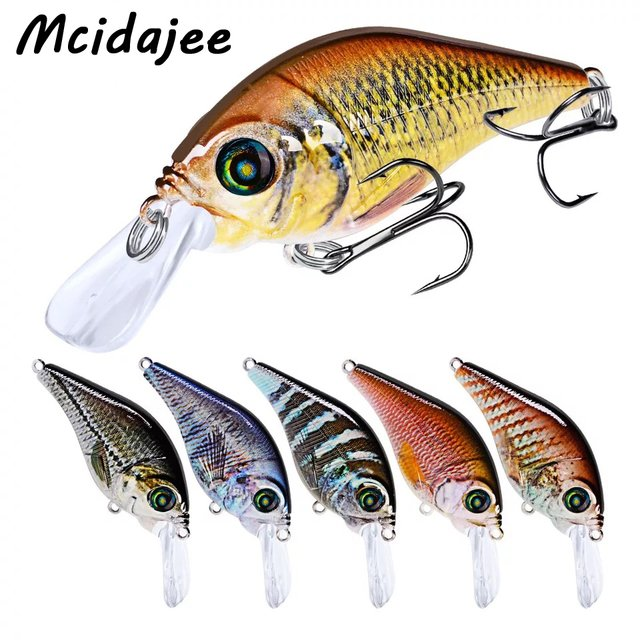 Mcidajee Fishing Lure Artificial 12g/7.8cm Walleye Balancer Wobbler Minnow Crankbait Ocean Boat Carp Fishing Hard Bait Tackle