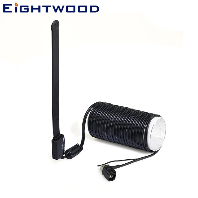 Eightwood Car Antenna Car Digital TV Active Aerial Dual Band VHF-H/UHF Amplifier 20dBi With Fakra A Female Right Angle Connector