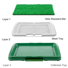 Dog Litter Box Pad Potty Training Synthetic Grass Mesh Tray 3 Layer Pet Toilet for Dogs Indoor Outdoor Use