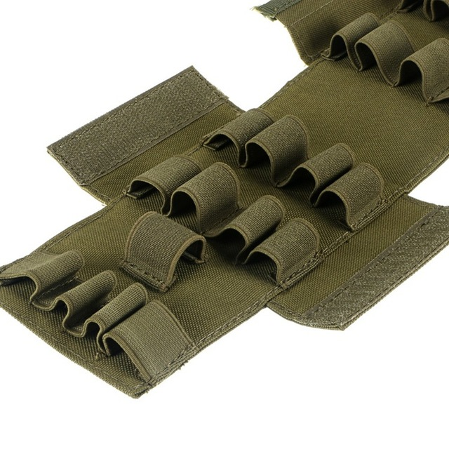 Tactical Molle 25 Round 12GA 12 Gauge Ammo Shells Reload Magazine Pouch Bag Hunting Case
