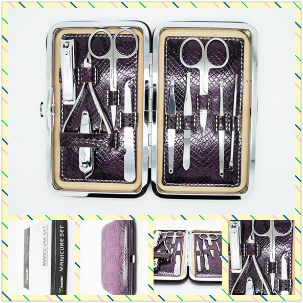 2018 New style Factory Direct Selling Professional 10in1 Beauty Pedicure Manicure Set Grooming Kit Case