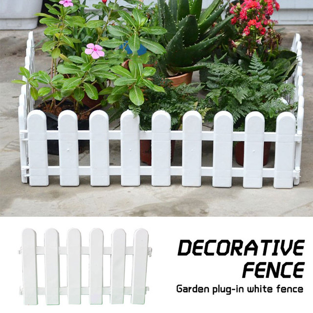 Christmas Tree Fence Plastic Fence Fashion White 1 Pcs Xmas Decor Lawn Gardening Party Accessories