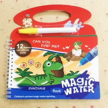 Magic Water Drawing Book Coloring Book Doodle & Magic Pen Painting Drawing Toy Painting Board Juguetes For Kids Boy Education