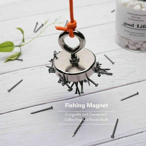 Powerful Recovery Magnet Hook Detector Treasure Strong Neodymium Fishing Hunting