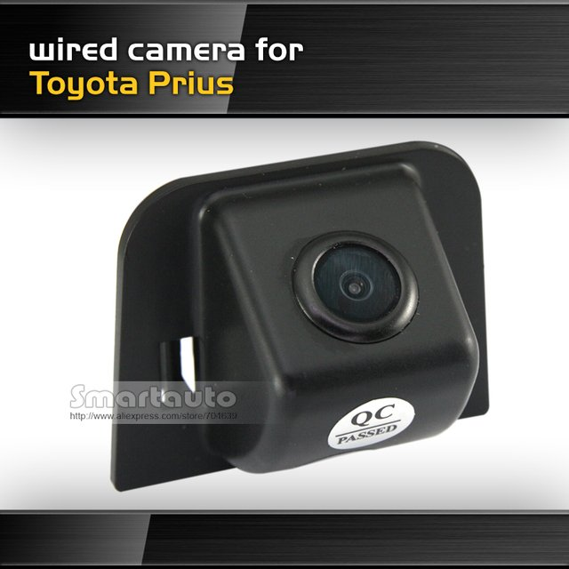 Wired free shipping for Toyota Prius waterproof night vision HD CCD 170 degree car backup parking rear view camera