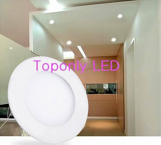 "2018 New 4w SMD Round LED Panel Light Baking Varnish treatment 4"" Slim Led Down Lamp Ideal for indoor Ceiling Lighting 40pcs/lot"