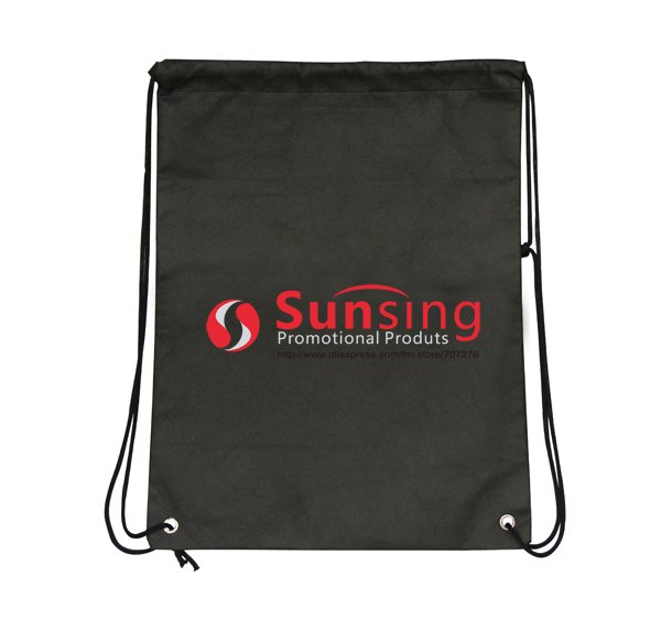 [Free 1 side 1 color logo] gift/promotional logo branded custom non woven bag,China direct wholesale 500pcs/lot 42*33cm backpack