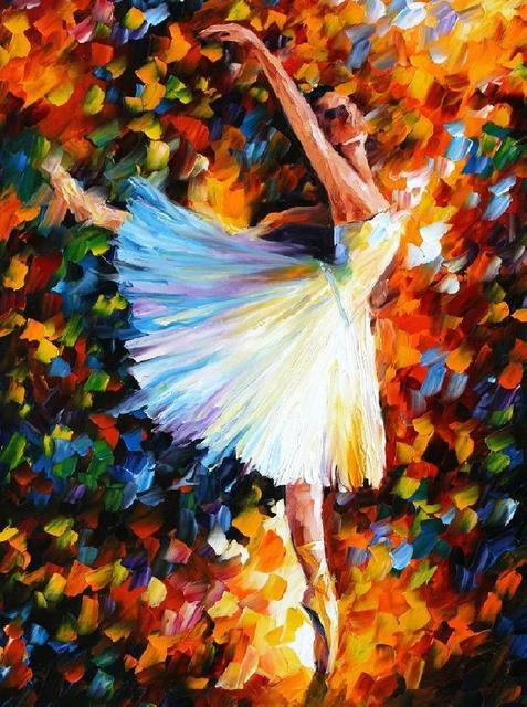 beautiful Painting Home Decor ballet Dancer Colorful oil paintings Canvas Abstract Modern Fine Art High quality Hand painted