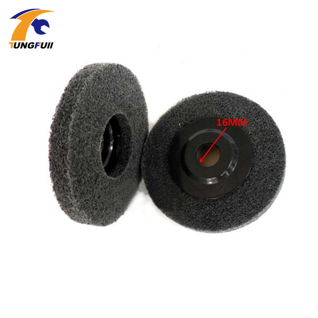 "Tungfull Nylon Grinding Disc 7P Flap Wheel for Metal Finish Wood Polishing on Angle Grinder In Stock 2 pieces 4""X12mm 180#"