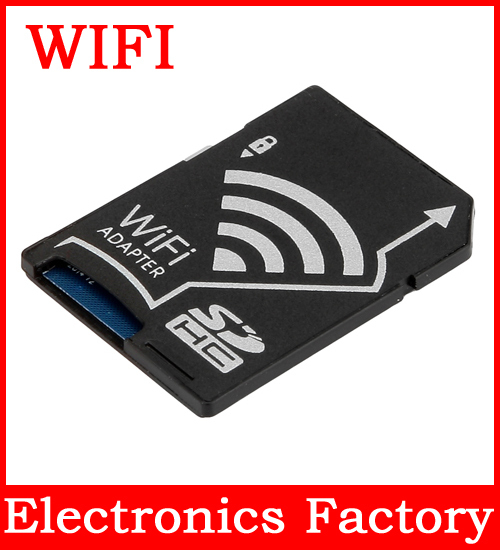 WiFi Wireless Wlan SD Micro SDHC TF Flash Card Case Reader Adapter for IOS Android Mobile phone Digital Camera Video pc Tablet